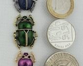 Pink, Blue or Green Beetle Needleminder / Insect Needle Minder