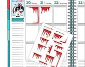 Planner stickers   Halloween stickers   blood stickers   cute stickers   decorative stickers (dd339)