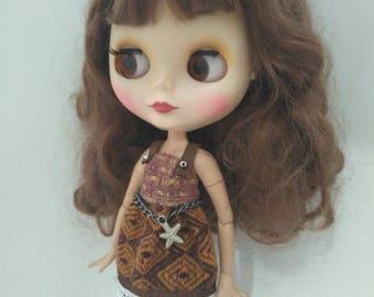 Blythe clothes Wool Blythe dress