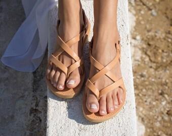 Greek Leather sandals,Full Strappy sandals,Handmade sandals,Women sandals,Women shoes,Triskelion,GAIA,