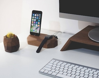 iPhone - apple watch dock - charging station - apple watch dock - iphone dock - device charger