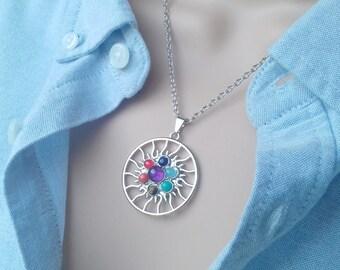 Chakra necklace - chakra jewelry - yoga necklace - chakra pendant - 7 chakra necklace - reiki necklace - meditation necklace - healing