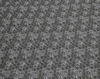 Black on Black Cotton Fabric
