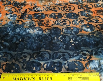 Skull Batik Cotton Fabric