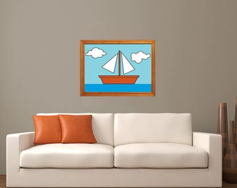 The Simpsons Boat Painting Print