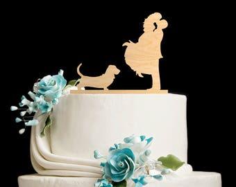 Basset hound cake topper,basset hound wedding cake topper,basset hound wedding,basset hound art,basset hound silhouette,basset hound,6562017