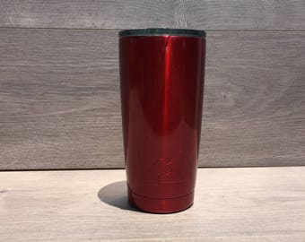Ready to Ship! Metallic Red Powder Coated Ozark Trail 20 oz. Tumbler - Stainless Steel Tumbler - Laser Engraved Tumbler - Custom Gifts