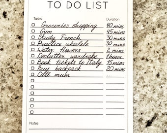 To Do List - A6 bloc - 50 sheets