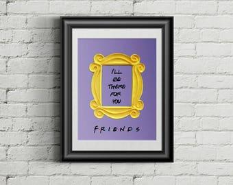 FRIENDS tv show printable poster friends peephole frame friends door frame marco friends frame wall decor best friend gift