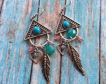 Southwest Boho Earrings, Southwest Jewelry, Boho Jewelry, Boho Earrings, Southwestern Earrings, Hippie Jewelry