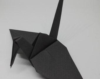 20 Origami Crane Wedding Favors Dark Grey