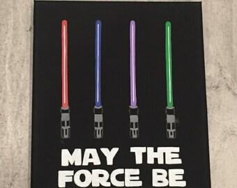 Star Wars wall art - Star Wars wall decor - Star Wars bedroom - Star Wars painting - Star Wars nursery - Star Wars gift