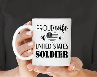 Military Wife Mug, Army Wife, Navy Wife, Marine Wife, Soldier Mug, Gift for Military Wife, Military mom, Mom of Soldier Gift, Military Gift