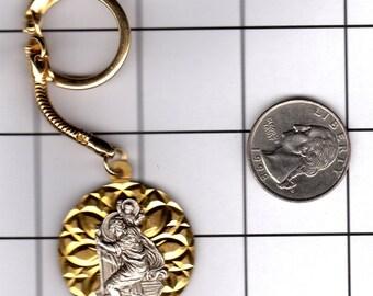 Saint Christopher & Christ Keychain Vintage