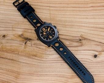 Leather Watch 18mm 20mm 22mm 24mm Watch strap handmade Leather Gift for men Watch strap Leather  Men watch strap Panerai watch strap