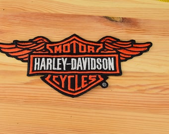 "Harley Davidson Motor Cycle Patch  / Size 9"" x 4"""