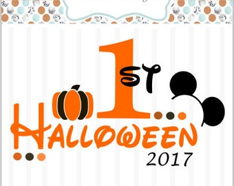 First Halloween Disney Boy   ~ SVG File- htv, Decal, DIY, Vinyl Cutters, Design Space, Ornaments, Cards, Baby