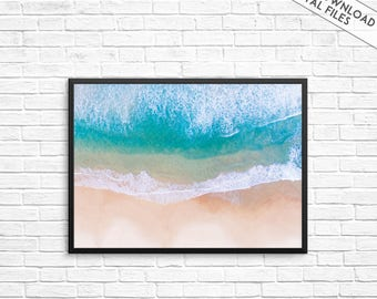 Beach print, Costal Print, Beach photography, Coastal photography, Beach wall print, Coastal wall art, Ocean print, Waves print, Water print