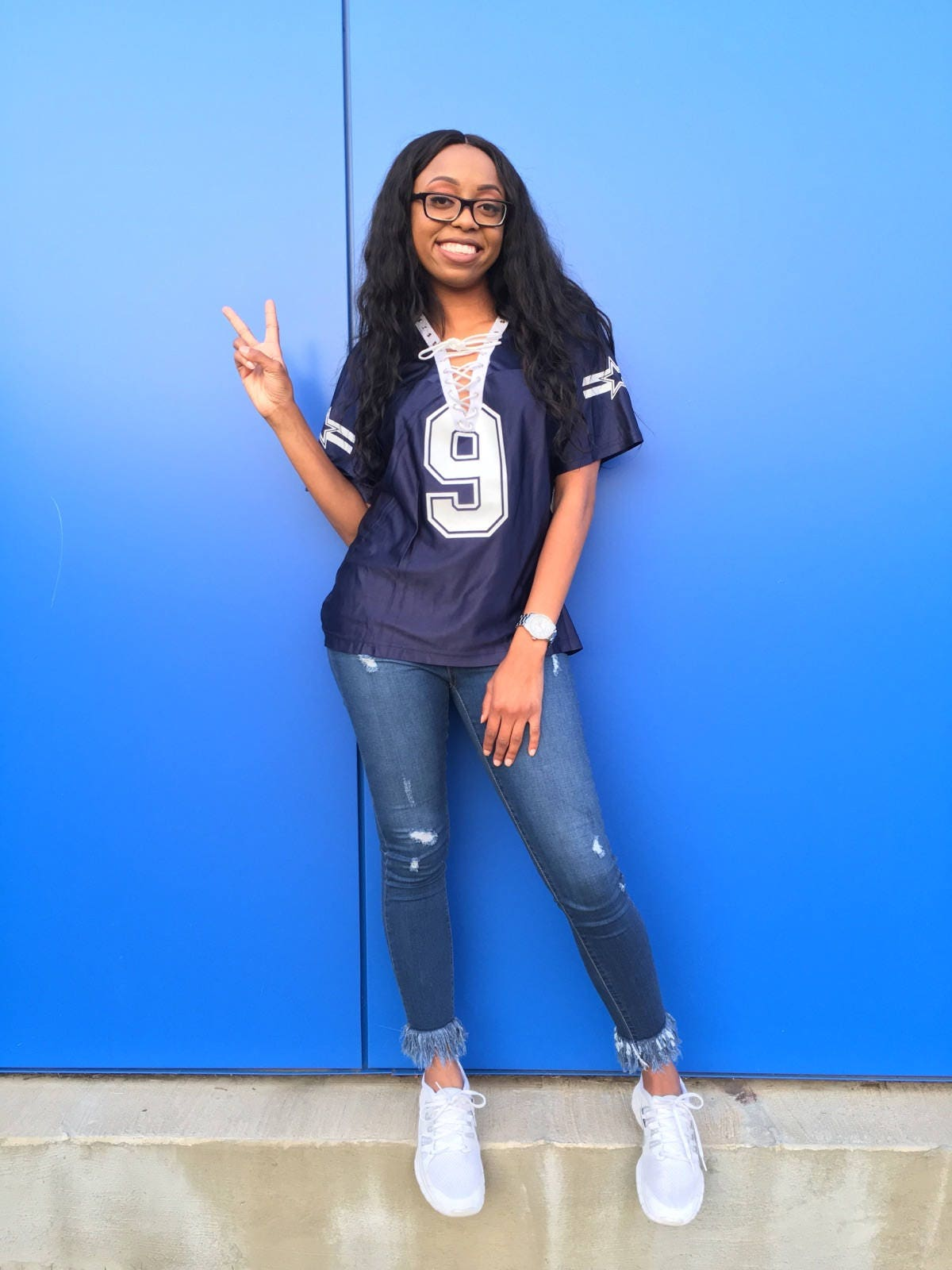 bbaac269f9c LIMITED QUANTITY DALLAS COWBOYS NFL LACE UP JERSEY ...