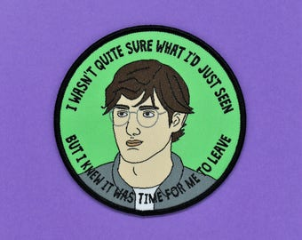 Louis Theroux iron on patch /// woven badge British television documentary funny quote political patches gift
