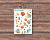 Autumn Bliss Deco Stickers | ECLP | Happy Planner | Recollections Planner
