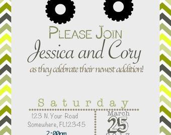 Jeep Theme Baby Shower Invitation