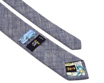 Custom necktie labels, necktie label size, vintage necktie labels,  custom tie label