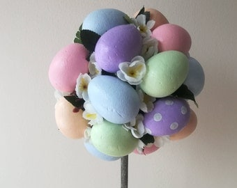 Easter Topiary Tree, Colorful Easter Egg Tree, Spring Tree In Pot, Easter Table Decoration, Easter Egg Decoration