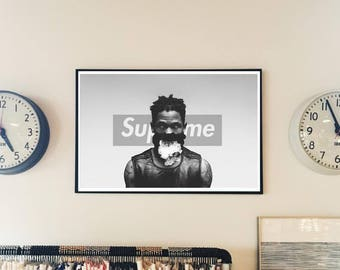 Custom Urban Art Posters, Supreme x Travis Scott Style Poster, Art Print Sneaker Art Work Box Logo Inspired Poster,Sneaker Poster, Hypebeast
