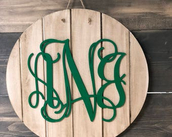 MONOGRAM Wooden Cut Out - Personalized