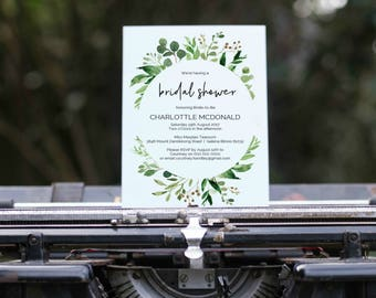 greenery invite etsy