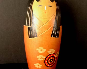 Vintage Sosaku Kokeshi Japanese Antique Wooden Doll AK