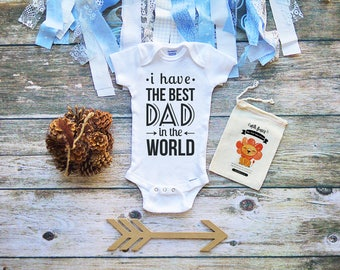 I Have The Best Daddy Onesies® Shirt - Cute Daddy's Little Girl Onesies - Cute Baby Shirts - Baby Shower Gifts - Father's Day Onesie - M321