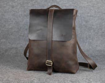 Women's universal backpack-bag/ Leather backpack, Womens leather rucksack, Women leather backpack, Laptop backpack, Gift for women, rucksack