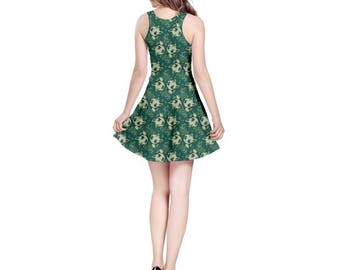 Leafeon Dress - Skater Dress Eevee Evolution Dress Pokemon Dress Cosplay Dress Videogame Dress Grass Pokemon Comiccon Plus Size Dress