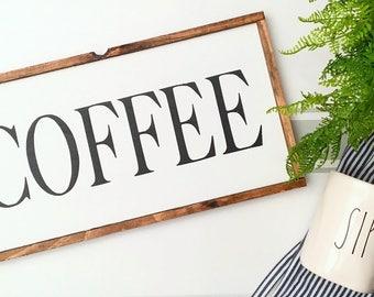 Coffee Sign, Coffee Wood Sign, Coffee Bar Sign, Rustic Wood Sign, Kitchen Wood Sign, But First Coffee, Coffee Decor, Coffee Bar, Coffee