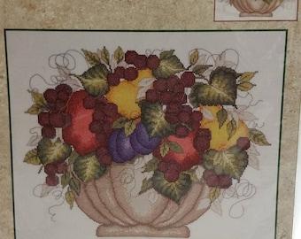 """Bucilla Counted Cross Stitch Kit """"Fruit"""" # 43127"""