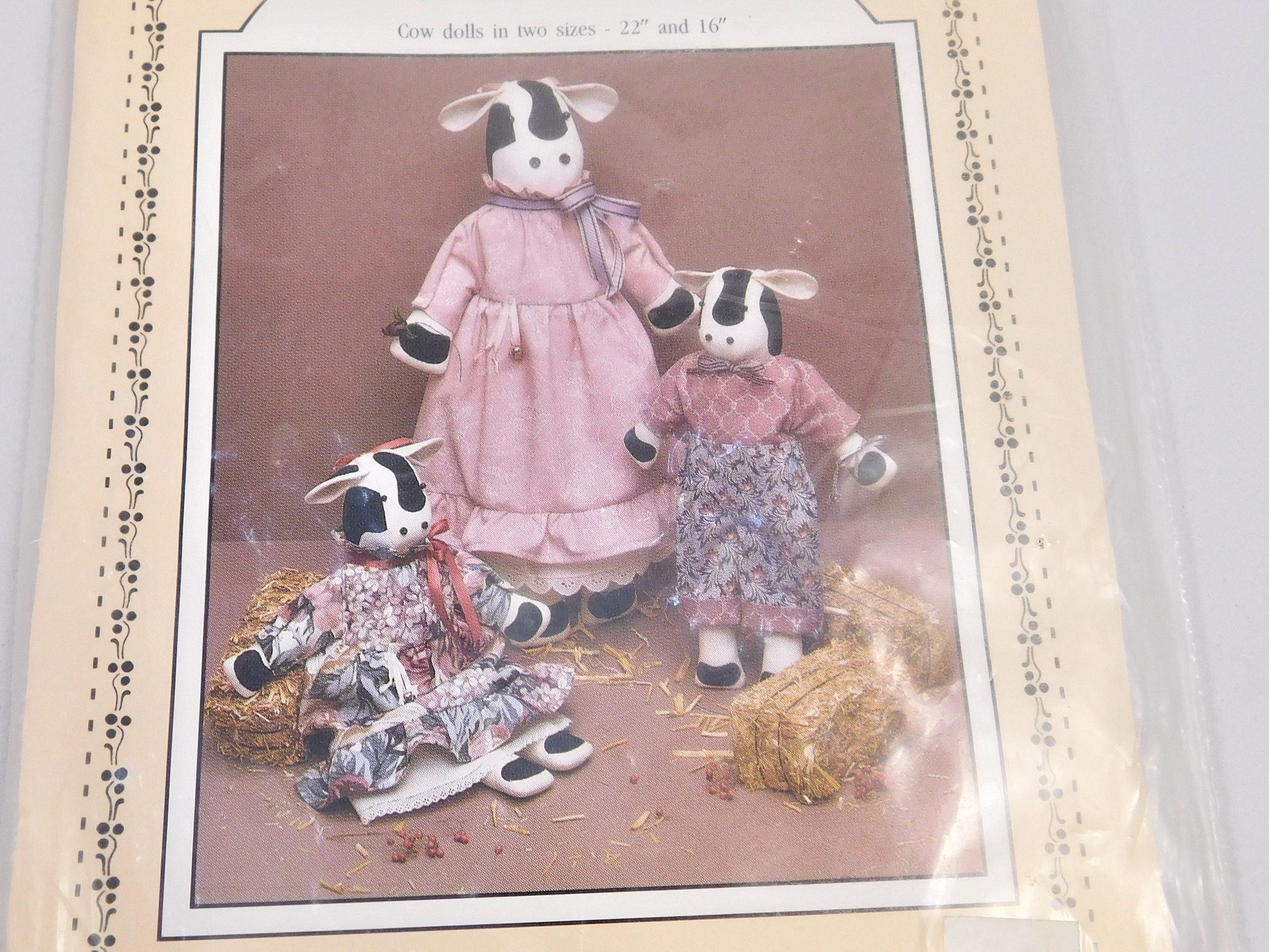 Stuffed cow sewing pattern dear bessie cow doll two sizes 22 sold by vintageoddraven jeuxipadfo Images