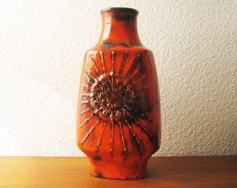 Rare floor vase by Walter Gerhards in fat lava design-rare flooring vase by Walter Gerhards in fat lava design