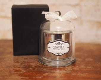 Orange and Patchouli Cloche Candle