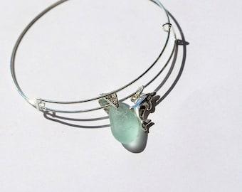 Sea glass Bracelet,Sterling Silver Bangle,Seaglass Jewellery,Seaglass Pendant,Seaham Seaglass,Sterling Silver