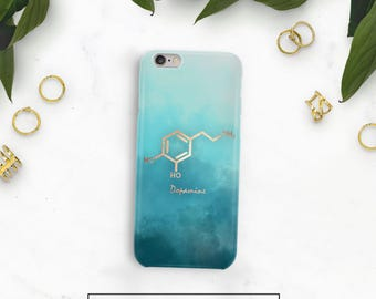 Dopamine Molecule Phone Case, Dopamine Case, iPhone 7 Plus Case, Dopamine iPhone 8, Science teacher gift, Samsung Note, Molecule Case