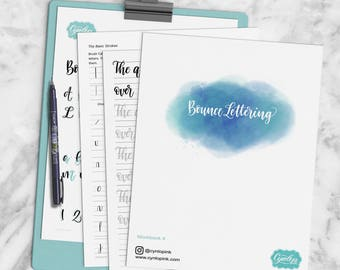 Bounce Lettering Workbook Printable PDF