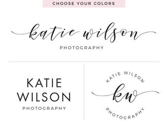 Custom Photography Logo, Business Logo, Premade Logo Design, Initials Logo, Branding Package, Watermark Logo, Logo and Watermark
