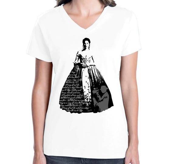 Outlander Inspired Claire In Wedding Dress T-shirt