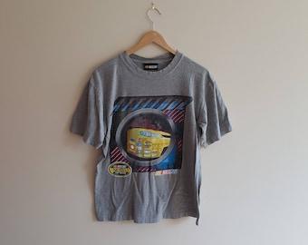 Vintage NASCAR t shirt, 90 s NASCAR, 90 s racing t shirt, racing tees, grey shirt, size small