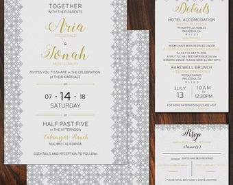 Simple Geometric Wedding Invitation