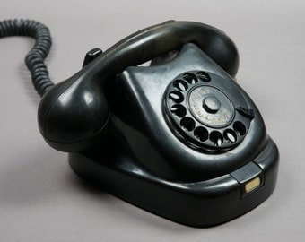 retro telephone, telephone, antique telephone, telephone Karbolit, Black telephone, telephone vintage, Karbolit, decor, design, vintage