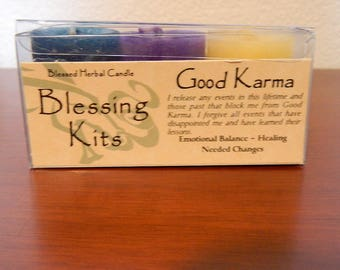 Blessed Herbal Candle Blessing Kits Good Karma Emotional Balance Healing Needed Changes