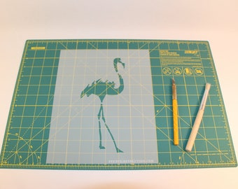 Flamingo Stencil - Reusable DIY Craft Stencils of a Flamingo - Hand Drawn Design!